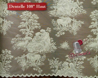 "Curtain Lace, IVORY, 108 "" (274cm), NOT made, polyester, washable, decorative,"