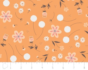 In the woods, 2241003, col 02, Camelot Fabrics, orange, multiple quantity cut in one piece, 100% Cotton