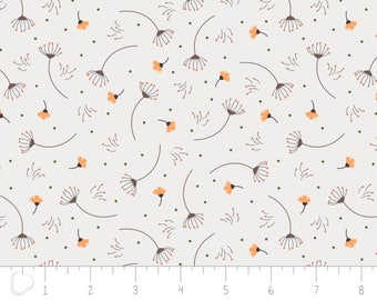 In the woods, 2241002, col 03, Camelot Fabrics, sage, white, light orange, multiple quantity cut in one piece, 100% Cotton,(Reg 3.99 -17.99)