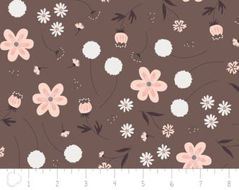 In the woods, 2241003, col 03, Camelot Fabrics,  brown, multiple quantity cut in one piece, 100% Cotton, (Reg 3.99 -17.99)