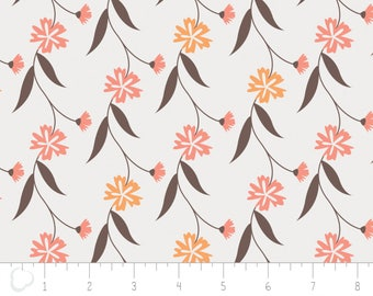 In the woods, 2241004, col 02, Camelot Fabrics, sage, white, brown, multiple quantity cut in one piece, 100% Cotton