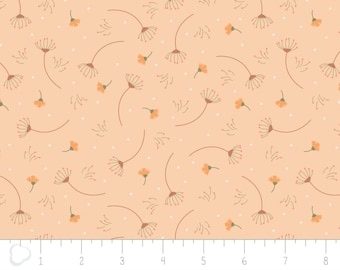 In the woods, 2241002, col 02, Camelot Fabrics, sage, white, light orange, multiple quantity cut in one piece, 100% Cotton,(Reg 3.99 -17.99)