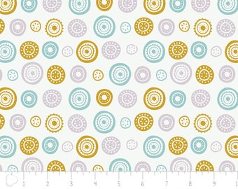 Joséphine, circles, 2143805, Camelot Fabrics, multiple quantity cut in one piece, 100% Cotton