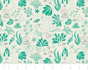 Under the sea, Sea creatures, turquoise,  6141603, col 01, Camelot Fabrics, 100% Cotton