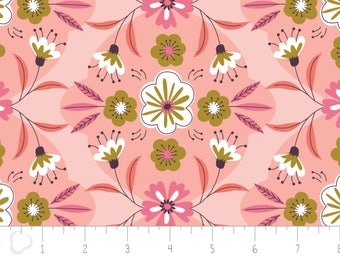 Captivate, flower, plum, 2240702, col 02, Camelot Fabrics, multiple quantity cut in 1 piece, 100% Cotton, (Reg 2.99-17.99)