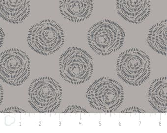 Equestrian, Rosette Au Naturel, 2143602, col 01, zinc, Camelot Cotton, multiple quantity cut in one piece, 100% Cotton