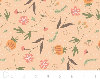 In the woods, 2241001, col 02, Camelot Fabrics,  light orange, multiple quantity cut in one piece, 100% Cotton, (Reg 3.99 -17.99)