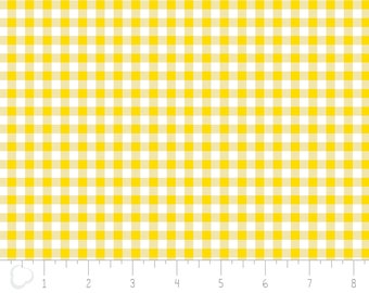 Gingham,  yellow, white, 3240103, col 02, Camelot Fabrics, multiple quantity cut in one piece, 100% Cotton, (Reg 3.99 - 17.99)