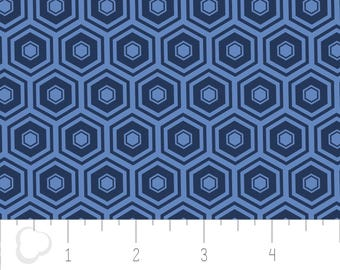 Honeycomb, 2142, navy, col 17, Mixology, Camelot Cotton, 100% Cotton