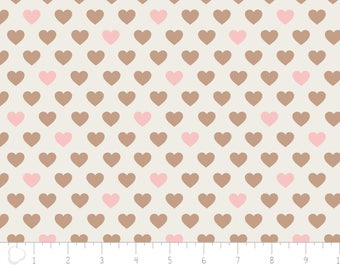 END OF BOLT, With Love, Heart, ivory, 4142003, col 01, Camelot Fabrics, 100% Cotton, pre-cut
