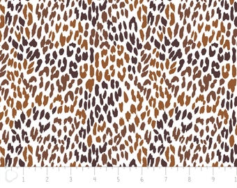 Flannel, Cheetah, brown, 2150041B, col 1, Camelot Fabrics, many yards will be cut as one piece,
