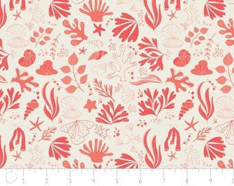 Under the sea, Sea creatures, coral,  6141603, col 02, Camelot Fabrics, multiple quantity cut in one piece, 100% Cotton