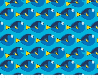 Disney, Finding Dory, topaz, 85170104, col 03, Camelot Fabrics, multiple quantity cut in one piece, 100% Cotton
