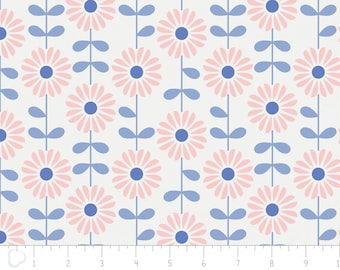 Rose Quartz & Serenity, 4142101, col 01, flower, white, Camelot Fabrics, multiple quantity cut in one piece, 100% Cotton