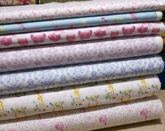Bundle of 7 prints, The Girls Collection, Laura Ashley, Camelot Fabrics, Bundle, 1 of each print
