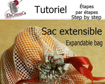 PDF, Tutoriel, Vegetables bag, in french and anglish