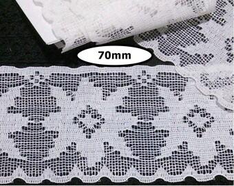 Lace vintage, WHITE, 70mm, vintage lace