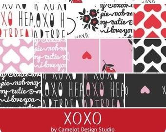 Bundle 17 prints, XOXO, Camelot Fabrics,  bundle, 1 of each , (Reg 63.92-331.33)