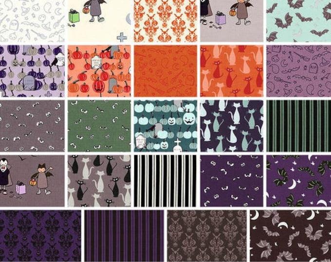 Featured listing image: NEW, Bundle, 24 prints, HALLOWEEN, bone, cat, Spooky Hallow de Riley Blake