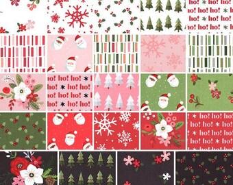 NEW, Bundle, 24 prints, CHRISTMAS fabric, Holly Holiday of Riley Blake
