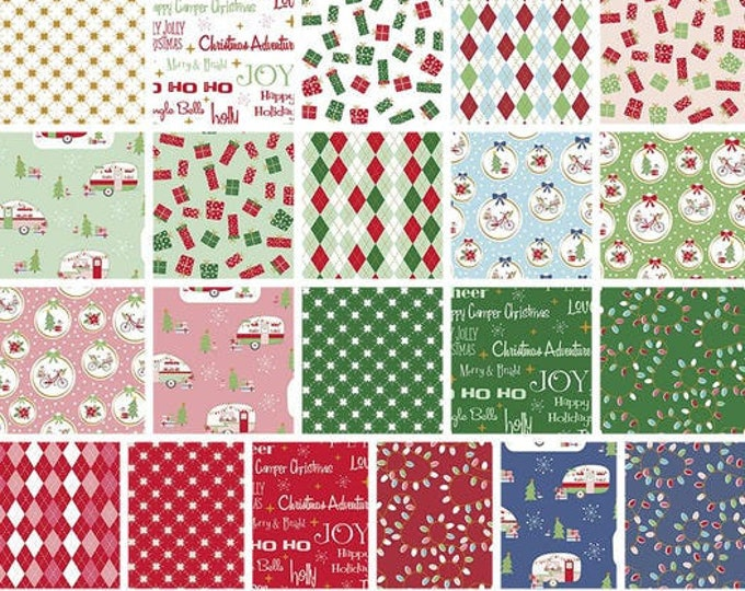 Featured listing image: Bundle of 21 prints, Christmas Adventure of Riley Blake