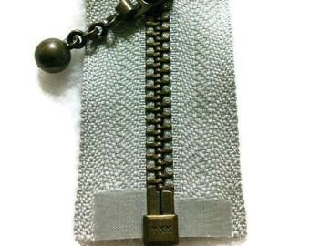 YKK, Zipper, détachable, grey, 41cm (16 po), laiton antique, no5, nylon, ZZ1