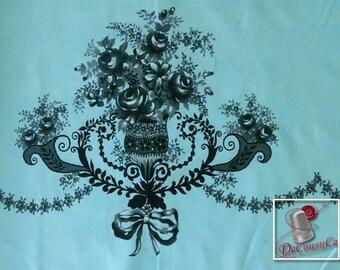Rosa Border, Michael Millers Fabrics, 6885, Michael Millers Fabrics, 6482, 100% Cotton