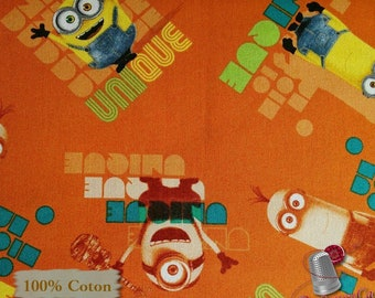 Minions, Licensed by Univrsal Studios, Quilting Treasures, multiple quantity cut in one piece, 100% Cotton