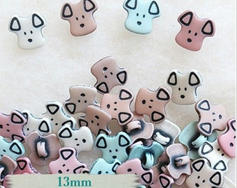12 or 25 Buttons, 13mm, Puppy, dog, vintage, BF04
