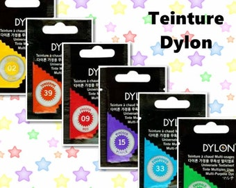 Kit of 2, DYLON, Multi Purpose Dye, for fabrics including cotton, linen, rayon, hemp, jute, wool, silk, nylon and Lycra® (elastane)