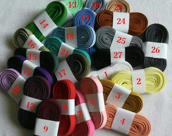 "6 yards of Bias double, 1/2"", (16mm), various colors, polyester, cotton"