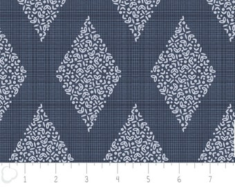 The Alchemy, Diamonds, 2143303, col 03, Camelot Fabrics, navy,  multiple quantity cut in one piece, 100% Cotton, (Reg 3.99 - 17.99)