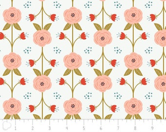 Happy Thoughts, vine, white, 2240802, col 03, Camelot Fabrics, multiple quantity cut in one piece, 100% Cotton, (Reg 3.99 - 17.99)