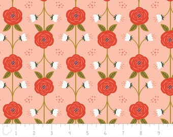 Happy Thoughts, vine, peach, 2240802, col 01, Camelot Fabrics, multiple quantity cut in one piece, 100% Cotton, (Reg 3.99 - 17.99)
