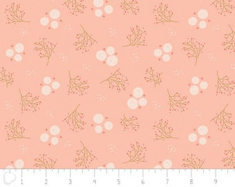 Happy Thoughts, rosettes, peach, 2240805, col 03, Camelot Fabrics, multiple quantity cut in one piece, 100% Cotton