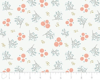Happy Thoughts, rosettes, white, 2240805, col 01, Camelot Fabrics, multiple quantity cut in one piece, 100% Cotton, (Reg 2.39-17.29)