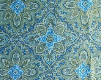 Médaillon, Kanvas, Benartex, 7789M, col 55, cotton quilt, cotton designer