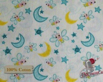 Dream a little dream, bee, white, 6141606, Camelot Fabrics, multiple quantity cut in one piece, 100% Cotton