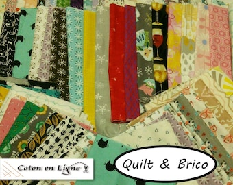 SUPER DEAL, 100% cotton coupons, various sizes, various designs, Designer cotton, photo as an example
