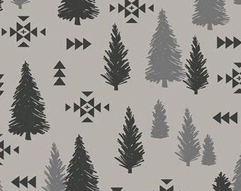 Tree Pine, Trees, Light Gray, Timberland, 10333, Riley Blake, cotton quilt, cotton designer, (Reg 3.76-21.91)