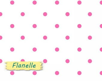 "Fat quarter, 18""X22"", (45cm X 55cm), Flannel, White, fuschia,"