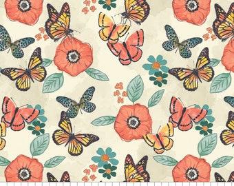 Flower, butterfly, Monarch Grove, 26170503, col 01, 100% Cotton,  (Reg 5.29 -22.95)