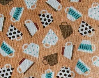 Micro cups, light orange, Benartex, 8877, cotton, cotton quilt, cotton designer