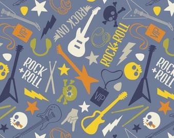 Guitar, music, Rock'n Roll, Rock On, 21190306, col 03, Camelot Fabrics, 100% Cotton, quilt cotton, designer cotton