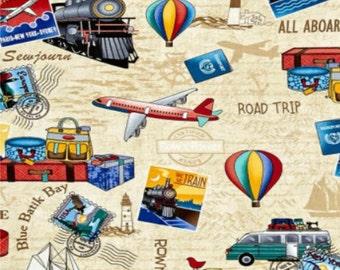 Trip, Traveling, 5059, Timeless Treasures, cotton, cotton quilt, cotton designer