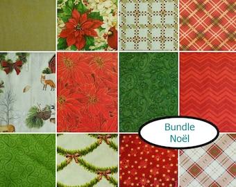 Bundle, 12 FE, 12 FQ, 1/4 yard, 1/2 yard,  1 of each, Designer Cotton, 100% cotton, (Reg 21.95 - 191.52)