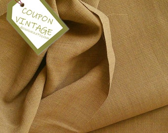 COUPON, Fabric for clothing, Beige, Butternut, 100% polyester, opaque and light, NON stretch, for skirt, blouse, dress