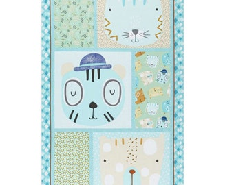 "Panel, Little Friends, 24"" X 44"", (60cm x 115cm), Bernartex , 05081, col 01, Multiple quantity cut 1 piece, 100% Cotton"