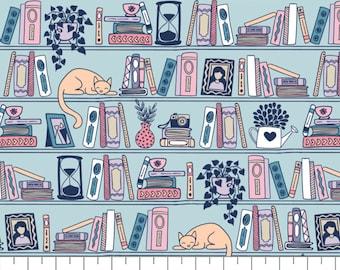 END OF BOLT, Literary, 21190525, col 06, Camelot Fabrics, Camelot Fabrics, 100% Cotton, (Reg 3.76-21.91)