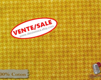 50%, Houndstooth basics, Corn, 8624, Henry Glass, multiple quantity cut in one piece, (Reg 3.76-21.91)